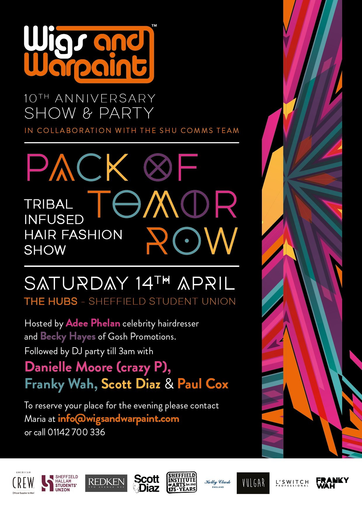 Wigs & Warpaints 10th Anniversary - Join Us At Our Catwalk Show & Party