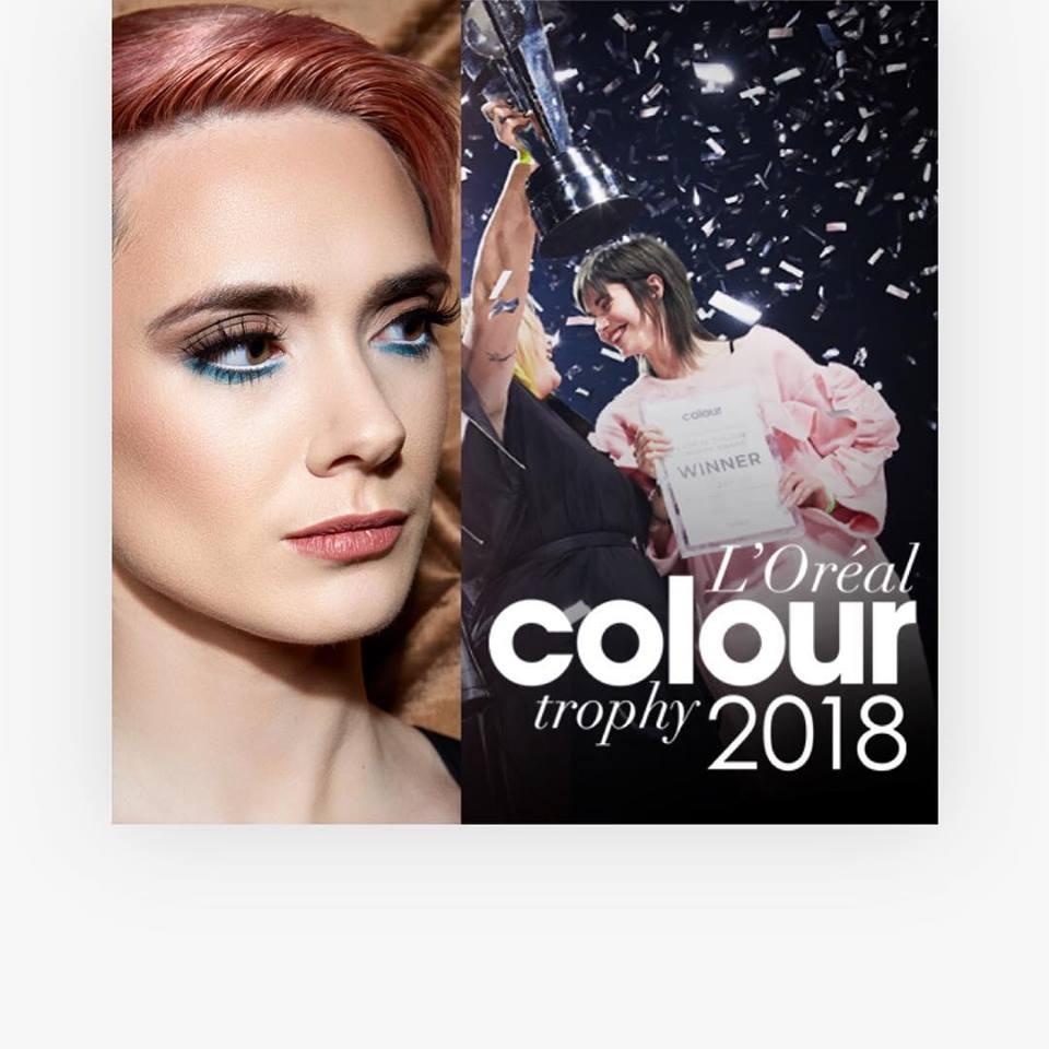 Claire Flack Scoops 'L'Oreal Colour Trophy Awards' Finalist Nomination