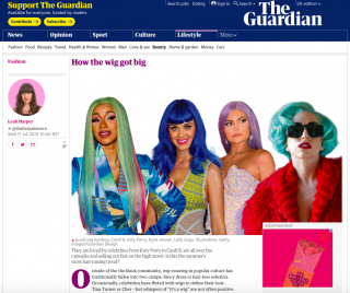 Claire Flack Featured In 'How The Wig Got Big' Guardian Article
