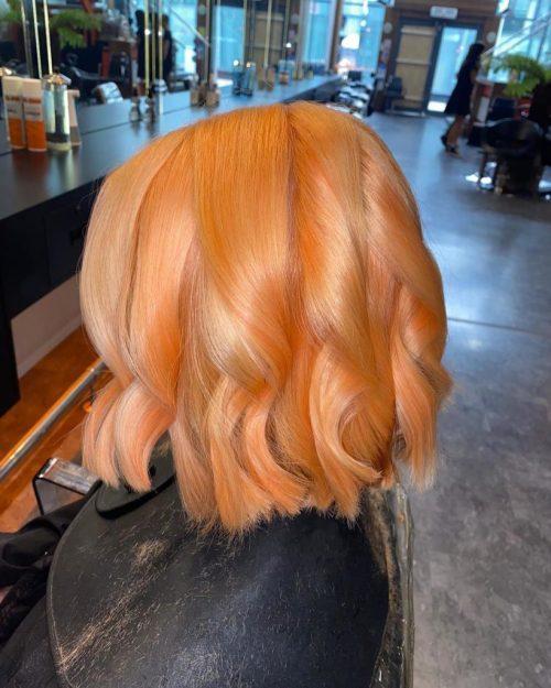 ORANGE HAIR COLOUR AT WIGS SALON SHEFFIELD