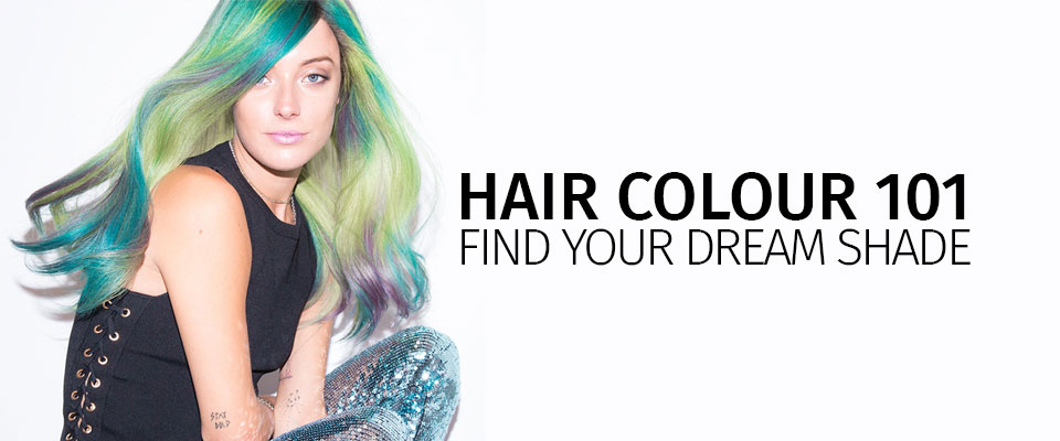 hair colour 101 find your dream shade banner 2